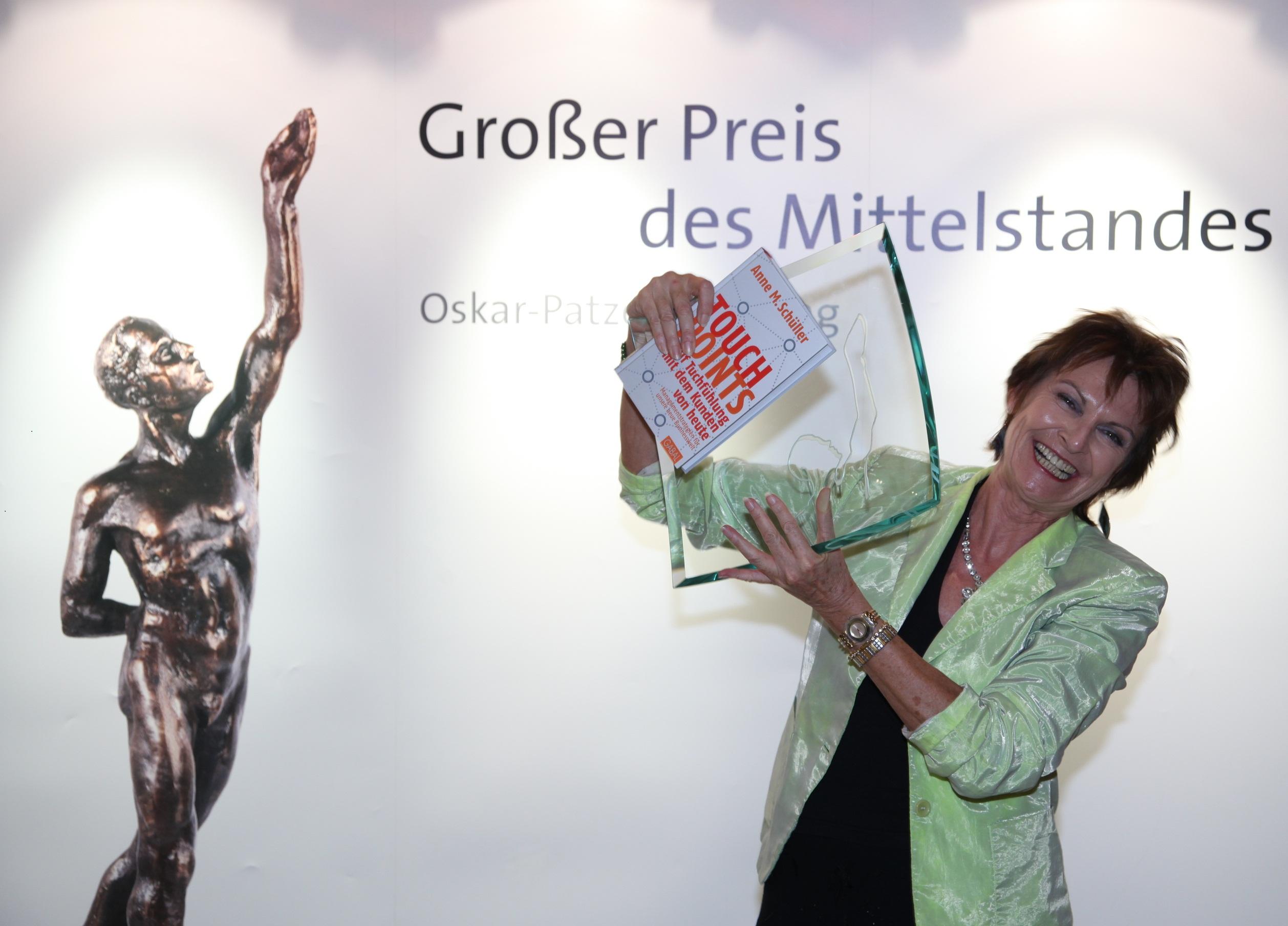Touchpoints von Bestsellerautorin Anne M. Schüller ist Mittelstandsbuch des Jahres 2012