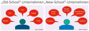 Old-School-Unternehmen vs. New-School-Unternehmen