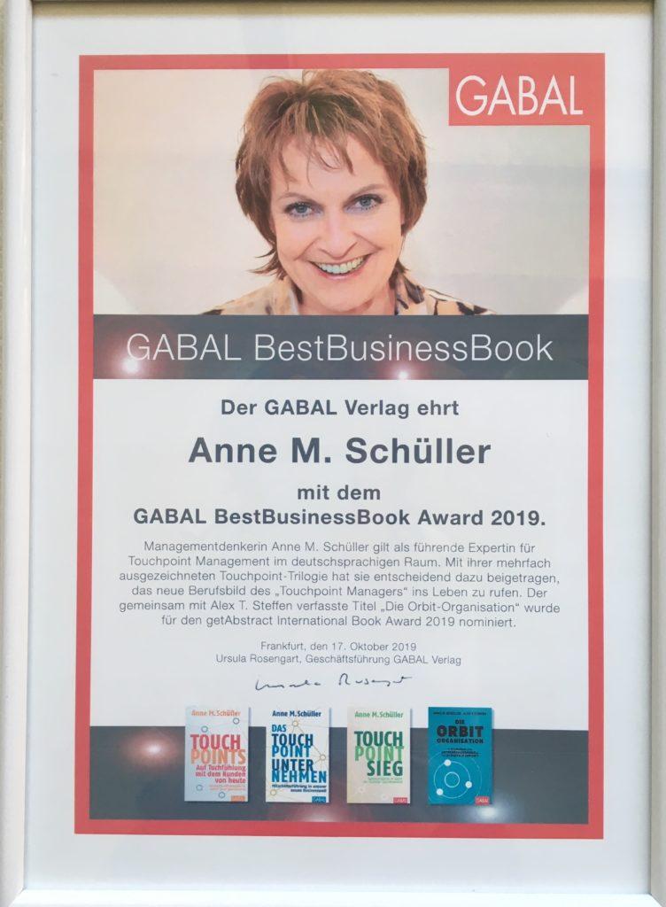 BestBusinessBook Award 2019 für Anne M. Schüller